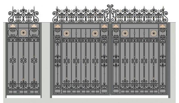 Ворота кованые №12 (кв.м.)