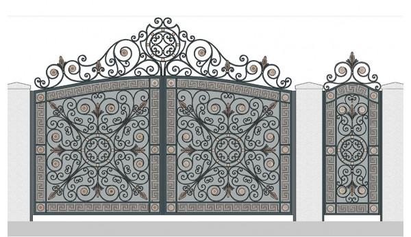 Ворота кованые №11 (кв.м.)