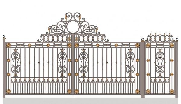 Ворота кованые №5