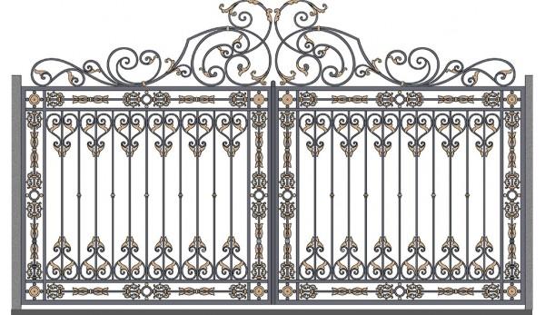 Ворота кованые №6