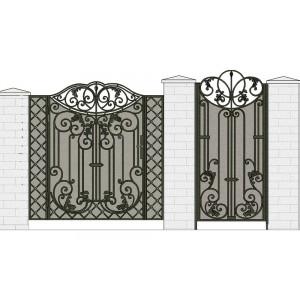 Ворота кованые №7