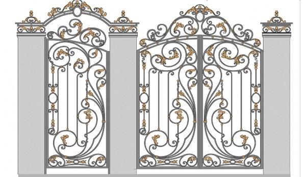Ворота кованые №8