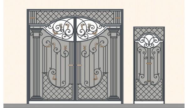 Ворота кованые №14 (кв.м.)