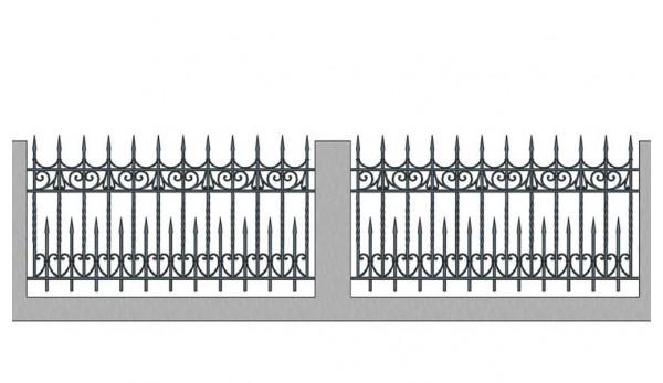Забор кованый №5
