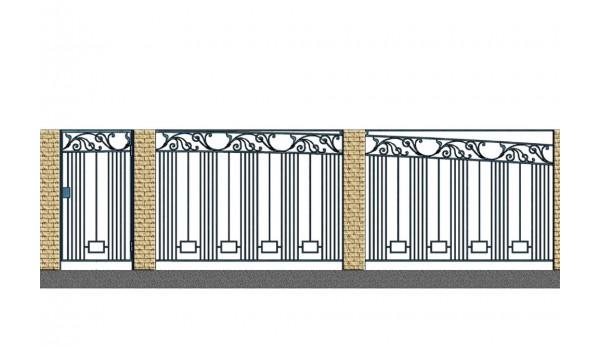 Забор кованый №3